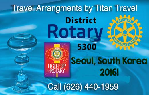Rotary 5300 International Convention 2016