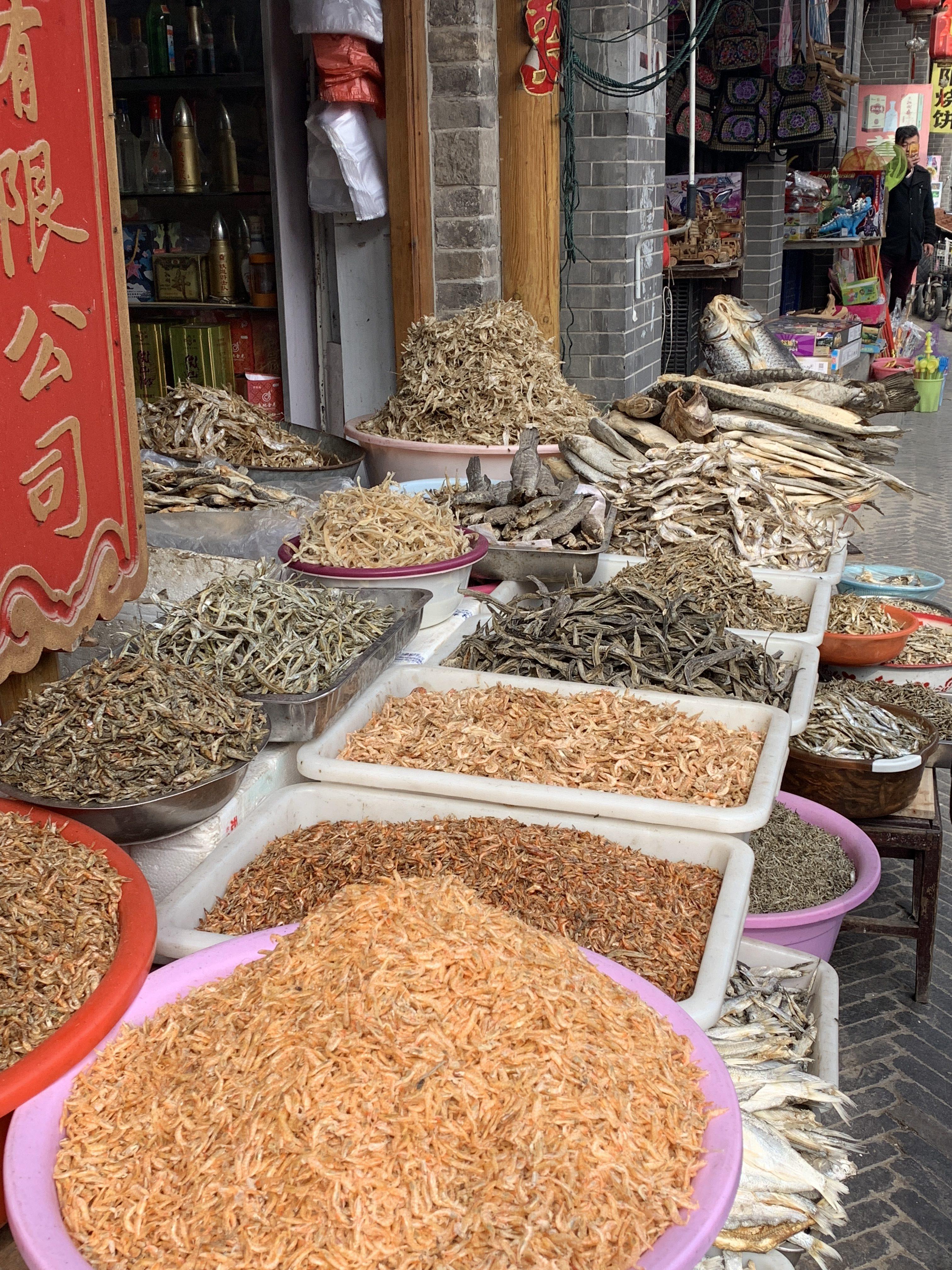 Shandong herbs at a outside shop